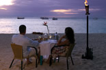 Beach dining at Green Island