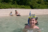 Family fun, snorkelling Green Island